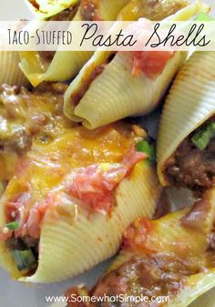 Taco stuffed pasta shells | Somewhat Simple