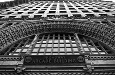Broadway Arcade Building, Los Angeles, CA. Photo by Ryan Oliver. Arch Building, New York Architecture, E Design, Interior Design, Arcade, Cool Pictures, Broadway, Places To Visit, Nice Picture