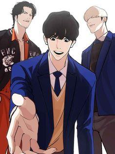 Lookism Webtoon, Webtoon Comics, Manhwa Manga, Manga Anime, Anime Art, Art Inspiration Drawing, Handsome Anime Guys, Anime Angel, Character Development