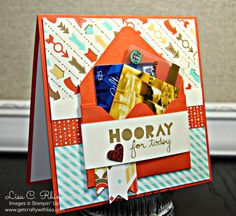 Make a fun gift card pouch for the front of a card!