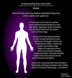 aura color meanings Understanding your Aura color: Violet violet aura color personality - Violet Things Auras, Aura Colors Meaning, Meaning Of Purple, Yellow Aura Meaning, Le Reiki, Aura Reading, Les Chakras, Yoga Chakras, Color Meanings