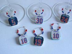 Handmade New York Rangers Wine Charms on Etsy