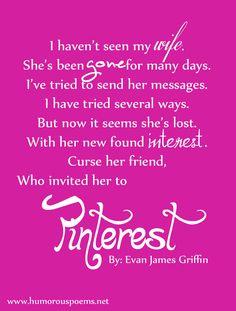 Pinterest Poem | Poem About Pinterest | Funny Pinterest Quote | Humorous Poems