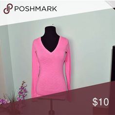 PINK By Victoria's Secret Pink Top In excellent condition. Super soft and cute! PINK Victoria's Secret Tops Tees - Long Sleeve
