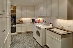 Laundry Rooms | Laundry Room Remodeling : Laundry Room Remodeling With Wall Tile