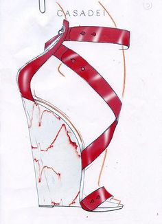 Casadei shoe sketch