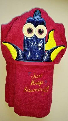PERSONALIZED HANDMADE HOODED DORY  TOWEL GREAT FOR SWIM SEASON!  #Unbranded