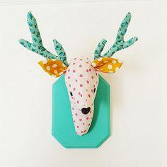 Deer plush wall mount  whimsical nursery by KelseyDavisDesign
