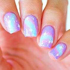 """forevernails98: """" Pastel Galaxy Nails """""""