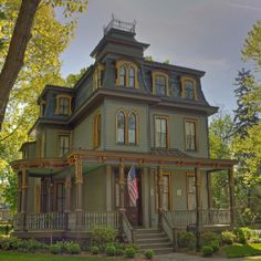 Wenonah NJ one of the grand homes. Wenonah beautiful town, known for some of the most beautiful historical Victorian homes.
