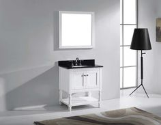 "Julianna 32"" Single Bathroom Vanity Cabinet Set in White"