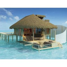 A Hut In The Water Travel Beach Ticker Paradise Island
