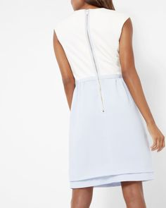 Double layer tulip dress - Pale Blue   Dresses   Ted Baker