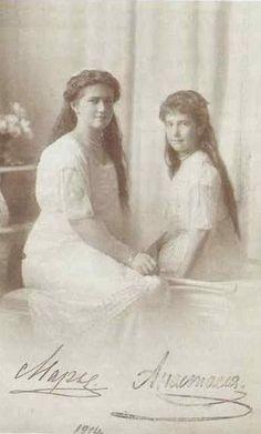 Maria and Anastasia Romanov.