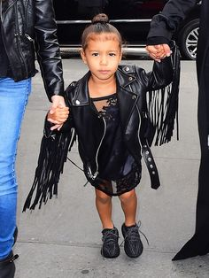 North West Dressed Like a Mini New York Girl This Weekend via @WhoWhatWear