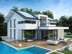 Moderne Satteldachhäuser modernes luxushaus bauen luxusvilla neubau mit flow villas and house