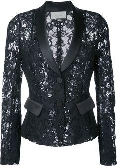 Alexis Luella Lace Tuxedo Blazer In Blue Over 50 Womens Fashion, All Fashion, Fashion Dresses, Fashion Looks, Lace Blazer, Lace Jacket, Blazer Fashion, African Dress, Lace Tops