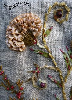Wonderful Ribbon Embroidery Flowers by Hand Ideas. Enchanting Ribbon Embroidery Flowers by Hand Ideas. Silk Ribbon Embroidery, Embroidery Applique, Cross Stitch Embroidery, Embroidery Patterns, L'art Du Ruban, Brazilian Embroidery, Ribbon Art, Embroidery Techniques, Fabric Art