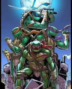 The personalities of my four characters are based off the ninja turtles. The dark colours of the turtles and the masks works well in a post apocalyptic setting.