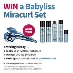 Enter our MiraCurl Twitter Giveaway and you could win a gift set worth $225!