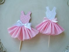 I Craft: Party Dress Cupcake Toppers Ballerina Birthday Parties, Girl Birthday, Dress Card, Princess Party, Baby Cards, Cupcake Toppers, Diy Cupcake, Baby Shower Decorations, Diy And Crafts