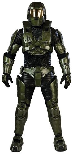 Halo 3 Master Chief Costume - Dress up as the main protagonist of Halo! Halo 3 Master Chief Costume - Adult Costume - Supreme Edition includes quilted jumpsuit with EVA armor, two-piece Star Wars Costumes, Cool Costumes, Adult Costumes, Halloween Costumes, Costume Ideas, Movie Costumes, Mascot Costumes, Spirit Halloween, Superman Costumes