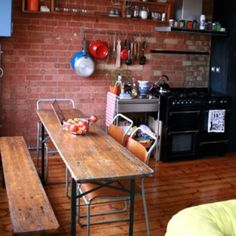 This Narrow Dining Table Is Just What Iu0027ve Been Looking For! But Love The  Bench!