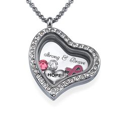 October marks Breast Cancer Awareness month. How many of you have known someone (family or friend) who has had breast cancer? This necklace is for all the survivors out there! Be sure to get one for someone and let them know how much you love them! #Survivor Floating Locket