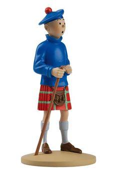 TINTIN FIGURINE NUMERO 22 COLLECTION disponible en France et en Belgique. Référence de la figurine : Tintin L'île Noire, planche 40, case B4