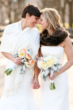 #fur, #shawl  Photography: Megan W Photography - Megan-W.com Floral Design: Michael George Flowers - michaelgeorgeflowers.com/
