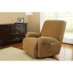 Better Homes and Gardens One-Piece Stretch Fine Corduroy Recliner Slipcover