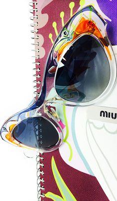 ~Miu Miu butterfly transparent sunglasses   House of Beccaria  Lunettes  Originales, Lunettes De 71edebd84ffc