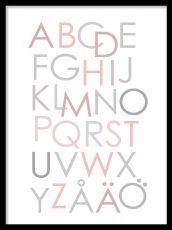 Alphabet rosa, posters