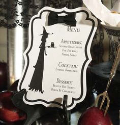 Treat your guests to a Halloween-inspired menu.  With downloadable template to create your own menu