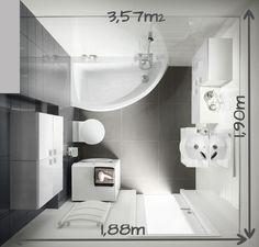 Salle de bains de 3 à 4m²