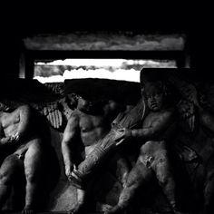 Il fregio con gli amorini dal tempio di Venere Genitrice nel Foro di Cesare, foto di Marcello Grassi