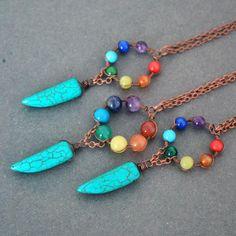 7 Chakra Necklace dreamcatcher necklace