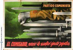 """El Comisario, nervio de nuestro ejército popular"", 1936. Courtesy of the University of Barcelona (www.ub.edu). (Rights Reserved - Free Access) http://www.europeana.eu/portal/record/91919/45A9F7CBA48356AB027E95AB192181F2BE4879DF.html"