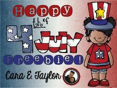 Here's a fun Fourth of July packet for you to use with your students or own kids over the holiday!  There are 10 pages of math, literacy, social studies, and art that they are sure to love.  All pages are geared towards K-2.  Have a Wonderful Fourth of July, Cara;)