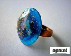 Ring Orgone Power  - Hand made Orgonite EMF Blocker - Orgone Energy Device -  Radiate Positive Vibrations -  FREE Shipping - FREE Gift