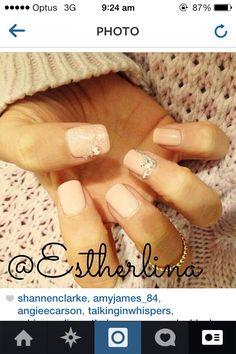 Diamanté gel nails