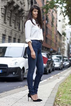 Skinny high waist jeans-  Street style countdown: Vogue ranks the 20 best looks of 2014 gallery