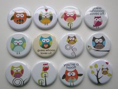 Lot of 12  125 flatback buttons by cutebutton on Etsy, $7.00