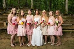A beautiful summer camp wedding in North Carolina with fun wedding details and rustic style.