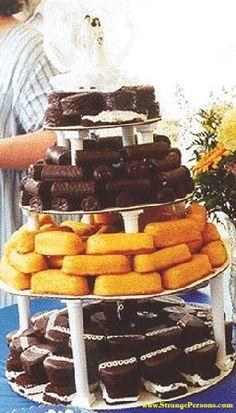 Redneck wedding cake! LOL!