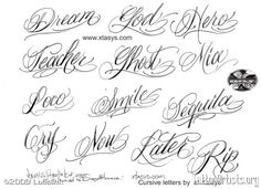 Old English Letters Cursive - Best Letter Examples