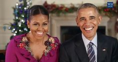 Michelle and Barack Obama deliver hilarious final Christmas message | Starts at 60