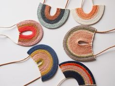 Image of Modernist Woven Rope Necklace #1