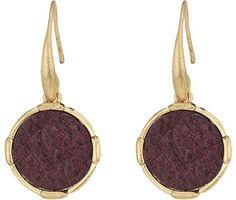 The Sak Inlay Circle Drop Earrings Earring
