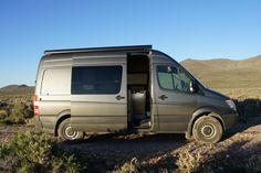 Door Stop for Passenger Slider on Sprinter Camper Van - Traipsing About Sprinter Camper, Mercedes Sprinter, Sprinter Conversion, Rv Financing, Door Stop, Campervan, Van Life, Sliders, Great Places